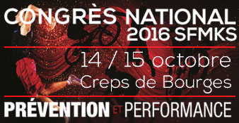 Congrès national SFMKS - 14-15 octobre 2016 - CREPS de Bourges